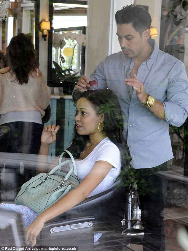 So, been anywhere nice on your holidays? Dionne enjoys LA life by visiting Ken Paves' celebrity hair salon