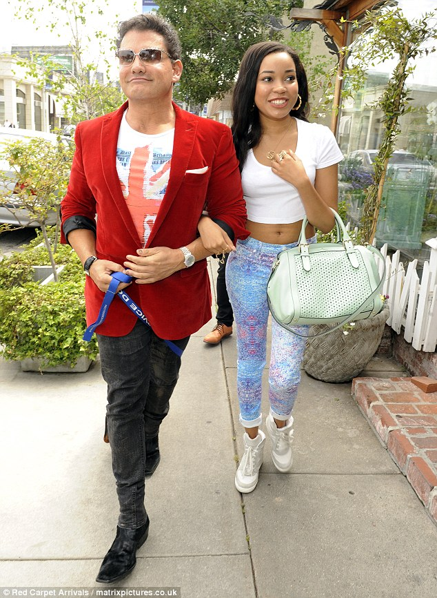 Making friends: the singer was seen out and about with producer Steven Jay Bernheim
