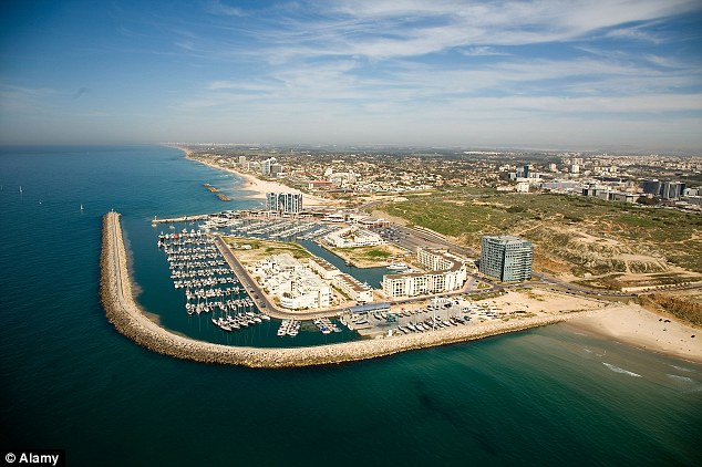 An aerial view of Herzliya's marina, which could be marketed as 'sub-Miami beach'