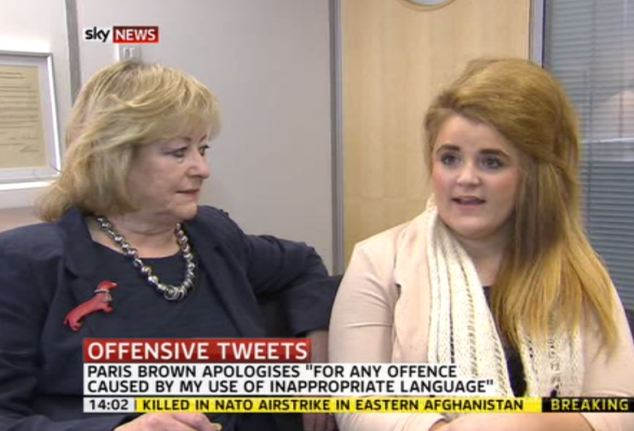 Defece: Police and local Crime Commissioner Ann Barnes (left) has defended Miss Brown (right) saying she was 'angry about it, but we will have to move on'