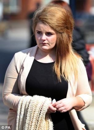 Paris Brown heads for media interviews outside Maidstone Police Station, Kent