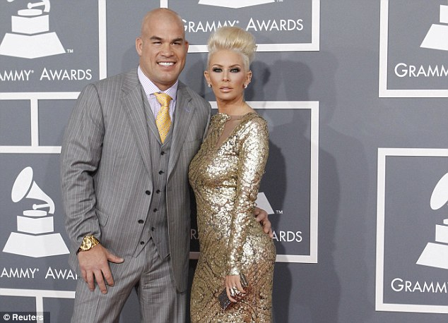 Family life: Jenna Jameson has been in a relationship with MMA fighter Tito Ortiz since 2006. The couple have twin sons together
