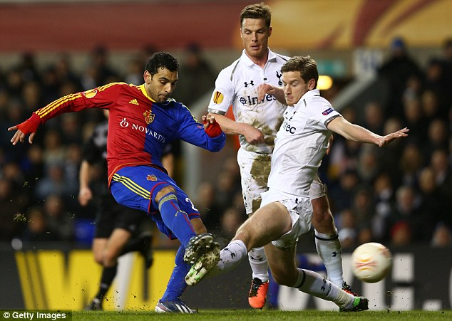 Good performance: Mohamed Salah starred for Basle during their draw with Spurs