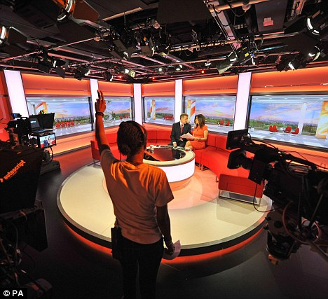 Shift: The new BBC Breakfast set in Salford. The majority of workers at the northern headquarters have moved from London or regional offices