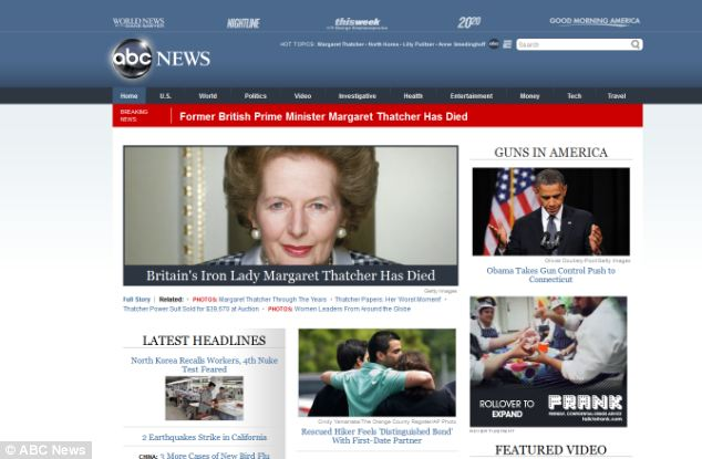 Margaret Thatcher's 'special relationship' with the U.S. is reflected in the media coverage in America
