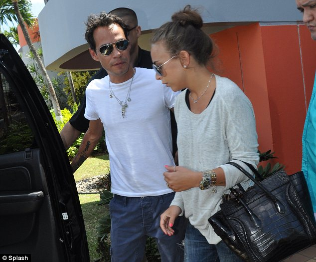 Keeping it casual: Chloe clearly feels extremely comfortable around Marc and wore a relaxed outfit for the trip