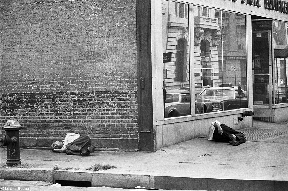 Homeless men became so common in the Bowery that the city became known for its 'Bowery Bums,' who camped out on the street