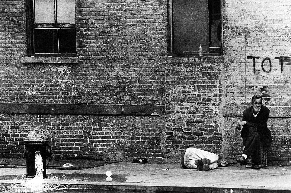 Run down: The men of the Bower were largely neglected until the 1990s when the city began to clean up its homeless problems and workers made an effort to get them into shelters