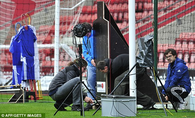 Tests: The Hawk-Eye technology was experimented with at Southampton's St Mary's Stadium