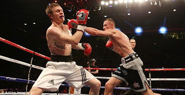 Marching on: Thomas Stalker was not at his best against Andrew Harris but did enough to win