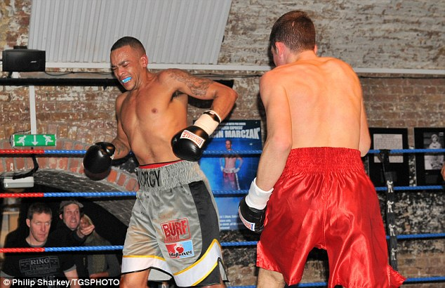 Tragic: Michael Norgrove (left) died after collapsing following a recent fight with Tom Bowen