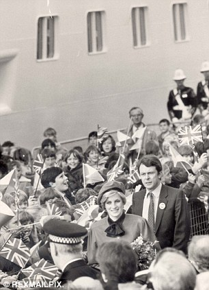 Following in her footsteps: Princess Diana named a  P&O Liner Royal Princess in November 1984