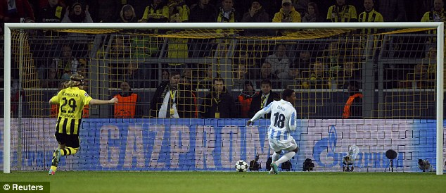 All over? Eliseu's goal with eight minutes remaining looked to have sealed Malaga's place in the semis