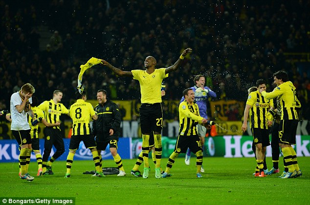Back from the brink: Borussia Dortmund completed a stunning comeback with two goals in injury time