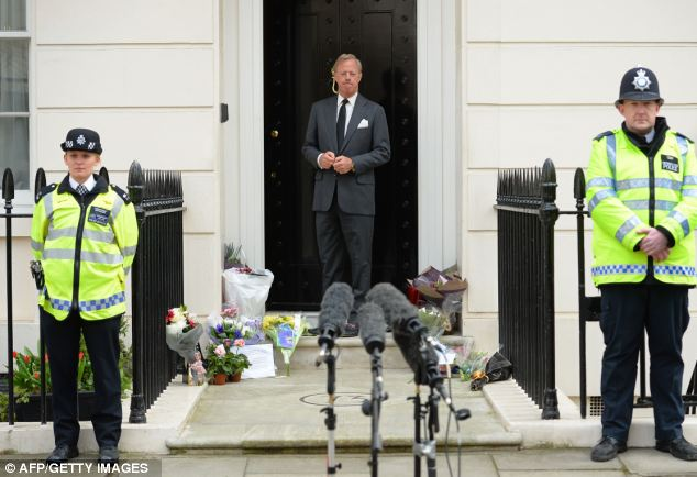 Speaking out: Sir Mark Thatcher today Baroness Thatcher would have been 'honoured and humbled' by the presence of the Queen at her funeral