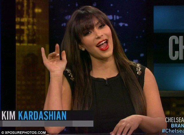 Speaking out: Kim made the comments about Amanda when she appeared on Chelsea Lately on Monday night