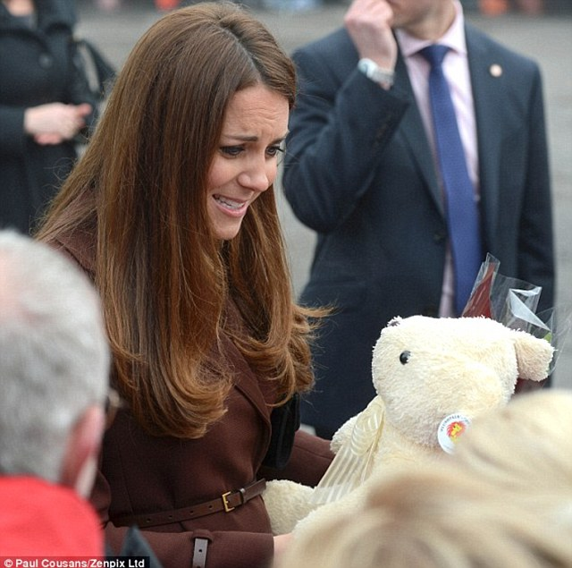In March many believed that Kate confirmed she was having a daughter when she thanked a girl for a teddy by asking if it was for her 'd...',