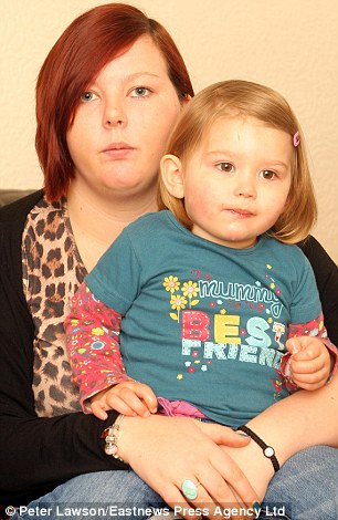 Bus trouble: Paryss, 22, said her daughter was having a tantrum on the bus - but she was shocked to be ordered off