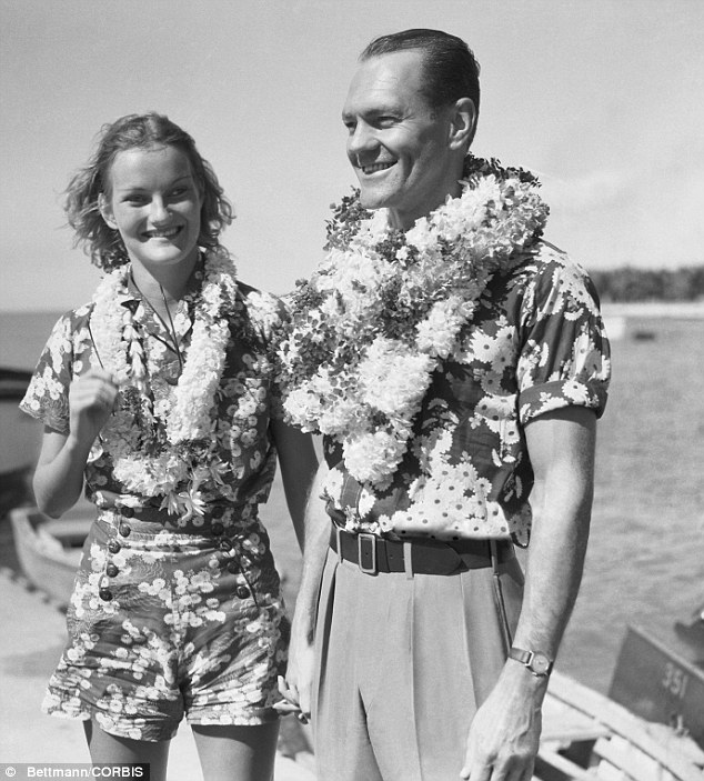 Much like her descendants, Duke was unlucky in love. She is pictured here in 1935 with financier James Cromwell, the first of her two husbands