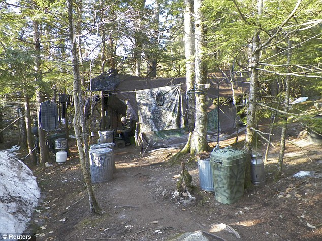 Maine State Police photo shows the makeshift camp site of Christopher Knight for 27 years in Rome, Maine taken following his arrest on April 4, 2013