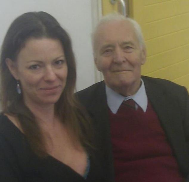 Romany Blythe, pictured here with former Labour politician Tony Benn,