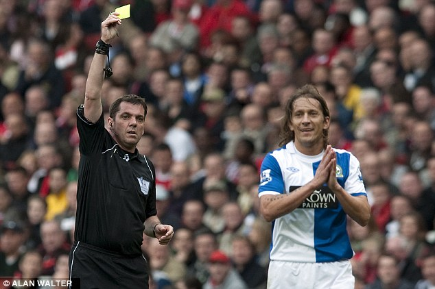 Former favourite: Michel Salgado (right) has criticised Blackburn Rovers' controversial owners