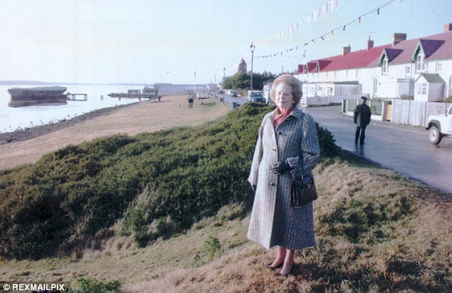 Liberator: Margaret Thatcher stands proudly on Victory Green in Port Stanley during her visit to the Falklands in June 1992. She was there to mark the 10th anniversary of the Falklands War