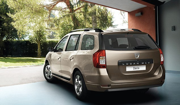 Boot space: Dacia's owners Renault have been keen to point out that it has a boot space that rivals the popular Volvo V70