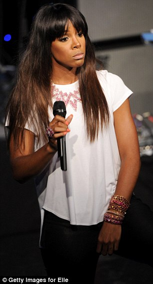 Rock the microphone: Kelly will relase her next studio album Talk a Good Game in the summer