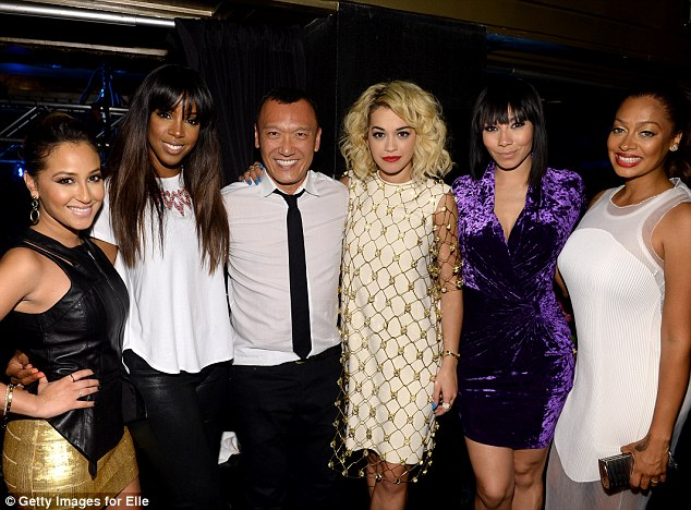 All together now: From left, Adrienne, Kelly, creative director of Elle Joe Zee, Rita, Bridget and La La Anthony