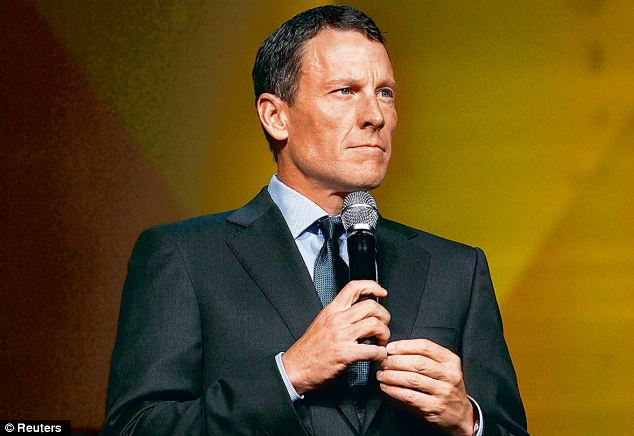 Sacked: Armstrong pictured at the Livestrong 15th anniversary gala last year. He was kicked off the charity's board following his doping admission