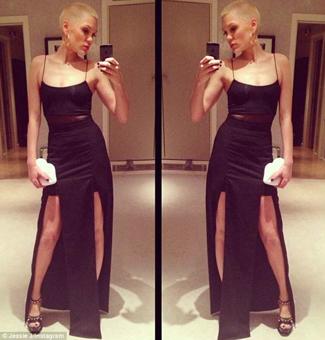 Selfie: Jessie shared a picture of her party outfit on her Twitter page prior to heading out