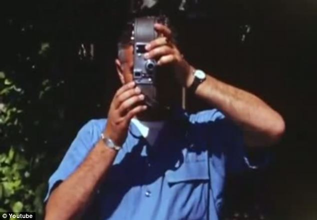 High tech: The restored footage was captured on a Kodachrome 16mm film