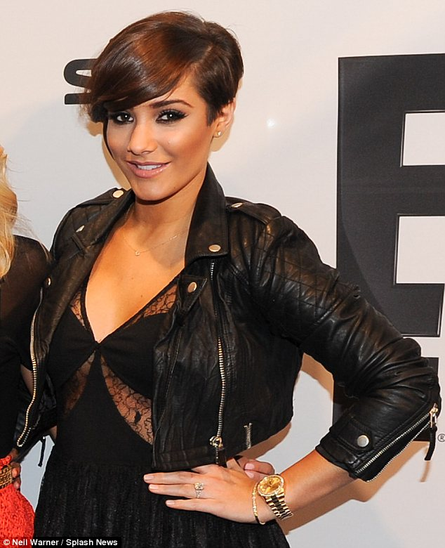 Pumping iron: Frankie Sandford wears her engagement ring with pride on the streets of Munich
