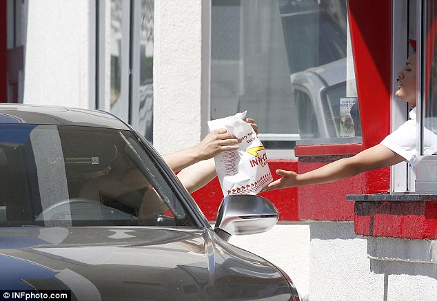 Takeaway treat: Bloom also made a stop at In-N-Out Burger