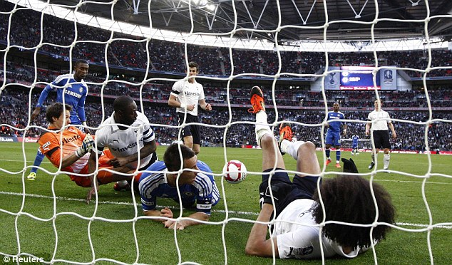 Net gains: Chelsea saw off Tottenham in last year's semi-final before going on to lift the 2012 FA Cup