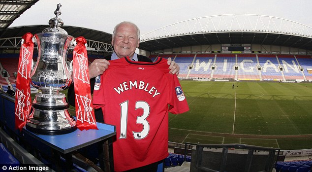 Up for the Cup: Dave Whelan will lead Wigan out tomorrow after breaking his leg in the 1960 FA Cup final