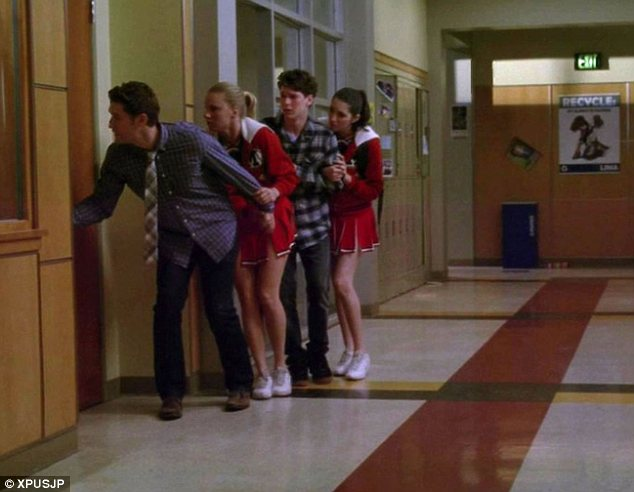 Terror: The 'Shooting Stars' episode, aired last night in the US, featured scenes of terror as its characters mistakenly believe a gunman has broken into the school and opened fire