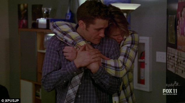 Fear: A handful lock themselves in a choir room, weeping, shepherded by glee club teacher Will Schuester, pictured front
