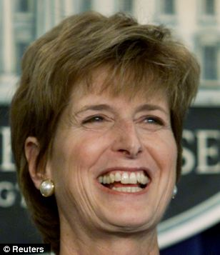 U.S. Environmental Protection Agency Administrator Christie Todd Whitman in 2001