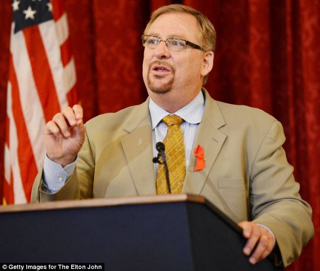 Mega church pastor Rick Warren has revealed that his son killed himself with an unregistered gun purchased over the internet