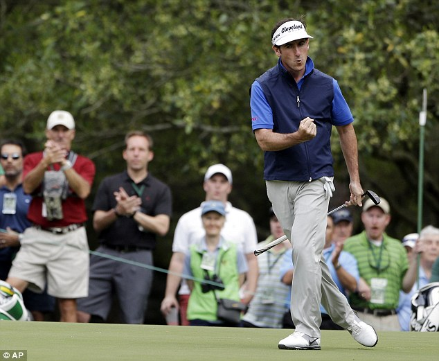 Super start: Gonzalo Fernandez-Castano reacts after a birdie on the first green on Friday