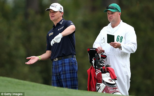 Steady start: Paul Lawrie is one of only three players under par in the tough conditions today