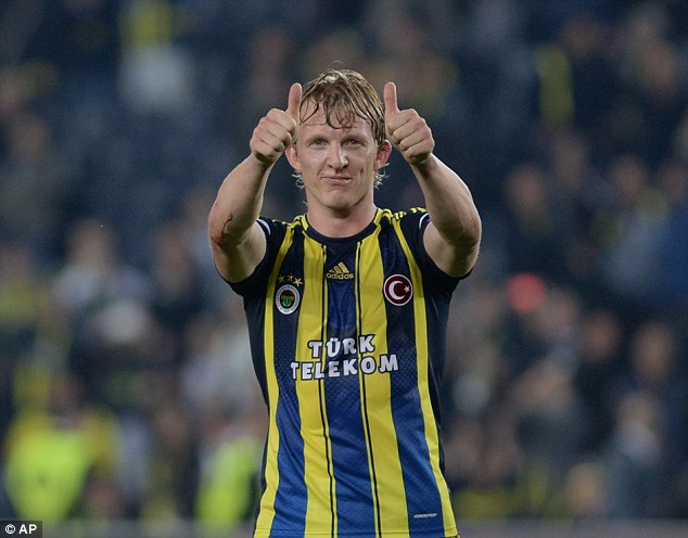 Scorer: Dirk Kuyt got the second in the first leg win over Lazio in the last round