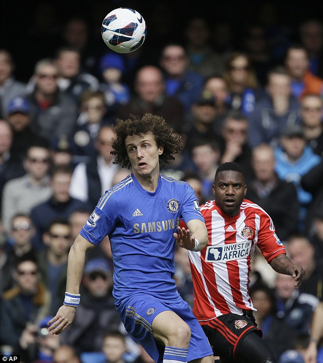 Commanding presence: David Luiz has become a rock at the centre of Chelsea's defence