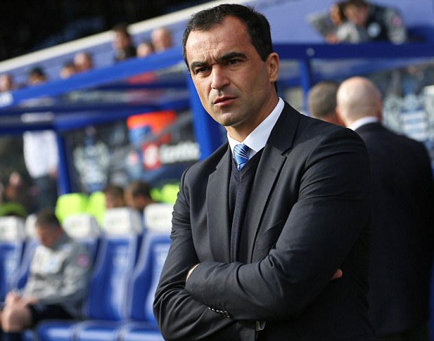 In charge: Roberto Martinez likes the idea of the semi-finals being played at Wembley