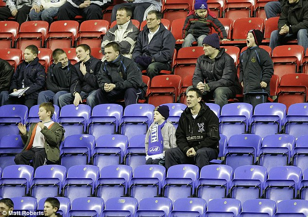 Empty seats: Wigan returned 10,000 unsold tickets