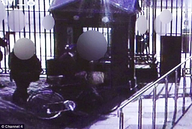 Controversy: This CCTV footage has subsequently cast doubt on the claims of the officers involved