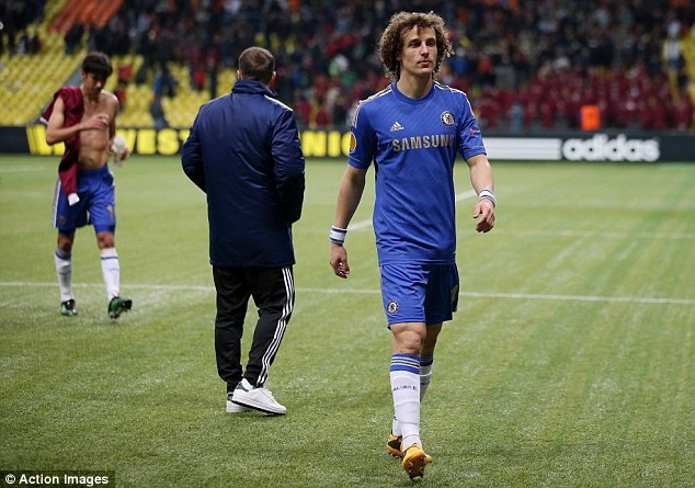 Calmed down: By the time he was on the aeroplane Luiz was his languid self