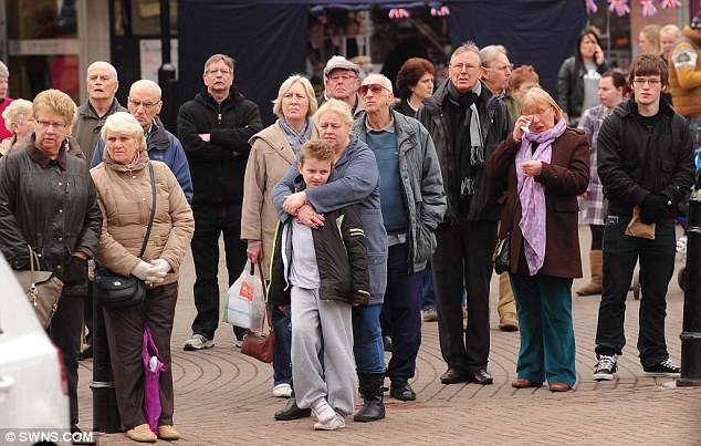 Crowds turned out to pay their respects to the war veteran, who served with Royal Marines